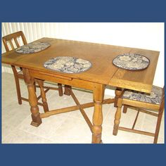 Antique English Solid Oak Jacobean 5Ft Drawleaf Dining Pub Table C1920 P68  | Jacobean, English And Solid Oak