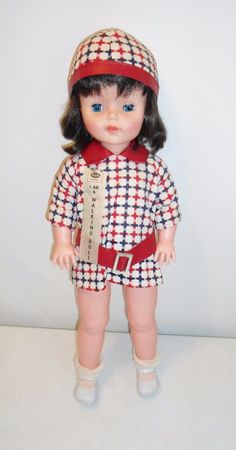 "RELIABLE Toy Company Canada - Vintage 1960s Walking Doll 2 ft. / 24"" Tall - RARE 