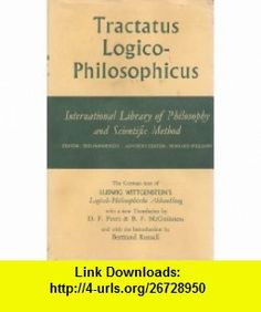 Tractatus Logico-philosophicus Ludwig Wittgenstein, D. F. Pears; B. F. McGuinness, Bertrand Russell ,   ,  , ASIN: B000EMKQ4Y , tutorials , pdf , ebook , torrent , downloads , rapidshare , filesonic , hotfile , megaupload , fileserve Pears, Pdf, Tutorials, Book, Books, Libros, Book Illustrations, Libri