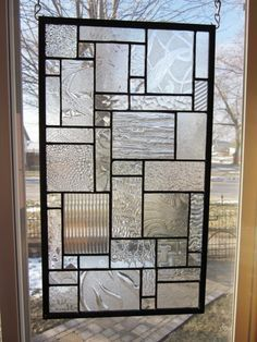 Stained Glass Window inspired by Frank Lloyd Wright's stained ...