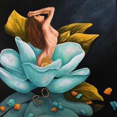 Fine Art Giclee  Prints Floral Nude by kMadisonMooreFineArt