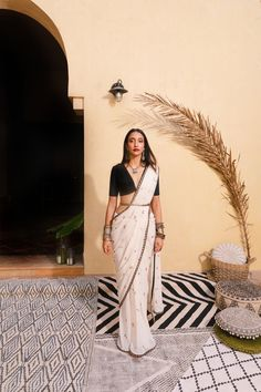 Cherry Saree and Vintage Crop Indian Wedding Wear, Desi Wedding, Indian Bridal, Wedding Dress, Indian Attire, Indian Ethnic Wear, Indian Style, Indian Dresses, Indian Outfits