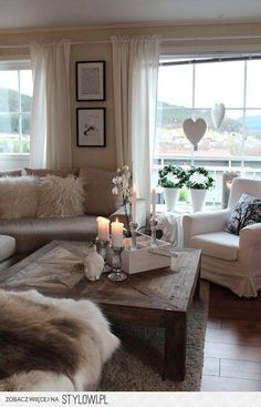 Wohnzimmer / Flur Living Room Decorating Ideas Cream Couch How Garden Art Creates Your Pe Taupe Living Room, Cozy Living Rooms, My Living Room, Home And Living, Living Room Furniture, Living Room Decor, Modern Living, Diy Furniture, Salons Cosy