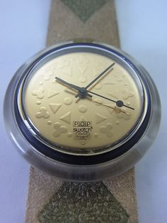 PMB104 Swatch - 1996 Pop Kishoo Gold Japanese Bamboo Swiss Made Authentic
