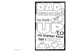 Father's Day Card Template, Card Templates, Free Adult Coloring, Free Coloring Pages, Coloring Book, Father's Day Printable, Free Printables, Fathers Day Crafts, Happy Fathers Day