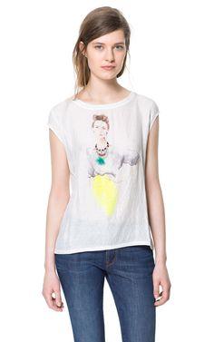 Imagem 1 de T-SHIRT ESTAMPADA da Zara