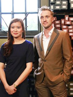 Tom Felton and Katie Leung at the Wizarding World of HP, Japan [05/20]