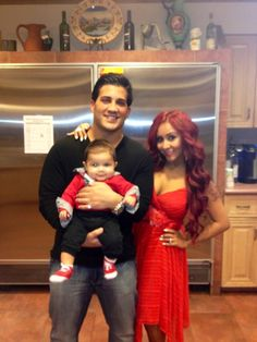 Nicole Snooki Polizzi Valentine's Day with Family