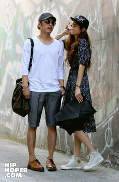 Asian couple fashion #streetwear