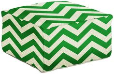 We love this bold kelly green option for a pouf ottoman.