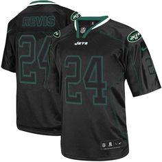 Elite Mens Nike New York Jets #24 Darrelle Revis Lights Out Black NFL Jersey$129.99