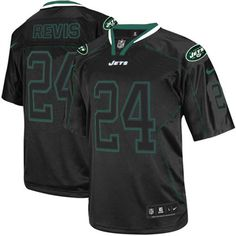 As the official online store of the NFL New York Jets, we offer you a large selection of new Men's Nike NFL New York Jets #24 Darrelle Revis Elite Lights Out Black Jersey for men's, women's, youth and kids at Official Shop. Visit the official NFL Jets Store regularly for great discounts, free shipping offers on top New York Jets Jersey and the latest fan gear for men, women and kids! $129.99
