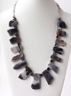 Beautiful Hand-carved Mixed flower agate PENDANT necklace GEMSTONE f1