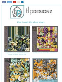 3 New Scrapkits at Heartfelt Perfections and More froom TLP Designz !