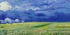 Das+Kunstwerk+Feld+unter+Sturmhimmel+-+Vincent+van+Gogh+liefern+wir+als+Kunstdruck+auf+Leinwand,+Poster,+Dibondbild+oder+auf+edelstem+Büttenpapier.+Sie+bestimmen+die+Größen+selbst.