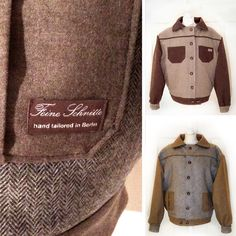 "feine_schnitte_berlin Wende-Jacke ""Joshua"", Fischgrät-Wolltweed, Turn inside-out jacket, heringbone tweed wool mix. #vintagefashion #vintagestyle #vintagejacket #1940s #1950s #jacket #wool #wooltweed #tweedjacket #fischgrat #schurwolle #wolljacke #winterjacke  www.feineschnitte.berlin"