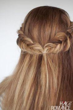 Hair Romance - Reverse fishtail braid tutorial