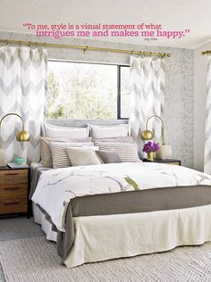 Oh Joy bedroom in Better Homes and Gardens! | Photo by David Tsay