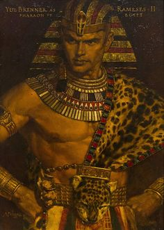 Ramses (Yul Brynner) in Ten Commandments - by Arnold Friberg