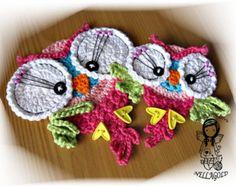 Crochet PATTERN Applique Parrot Patch por NellagoldsCrocheting