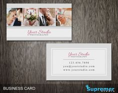 Photography Business Card Template - Business Card for Photographers Photoshop Templates PSD - BC015