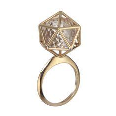 Icosahedron Ring By Zoe and Morgan Bling, Future, Stuff To Buy, Accessories, Jewelry, Fashion, Moda, Jewel, Future Tense