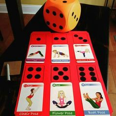 How to Play with Yoga Cards for Kids (Printable Poster Yoga cards for kids games. - How to Play with Yoga Cards for Kids (Printable Poster Yoga cards for kids games using dice Poses Yoga Enfants, Kids Yoga Poses, Yoga For Kids, Exercise For Kids, Gross Motor Activities, Activities For Kids, Elderly Activities, Sensory Activities, Physical Activities