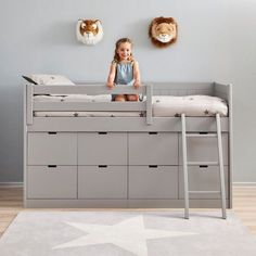Kids Cabin Bed with 8 Drawers & Ladder - This unique kids bed is hand made to order and beautifully crafted in solid beech wood and MDF. Cabin Beds For Kids, Kids Beds With Storage, Kids Bunk Beds, Under Bed Storage, Bed For Kids, Childrens Cabin Beds, Cabin Bed With Storage, Children Storage, Mid Sleeper With Storage