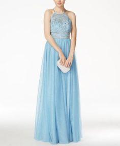 14d42fed37 B Darlin Juniors  Embellished Sleeveless Halter Gown   Reviews - Dresses -  Juniors - Macy s