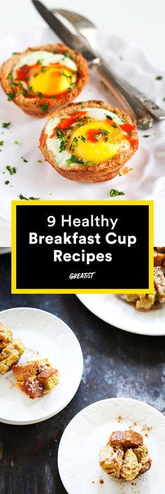Mini in size, mighty in taste. #healthy #breakfast #recipes http://greatist.com/eat/healthy-breakfast-cup-recipes-to-fuel-your-mornings