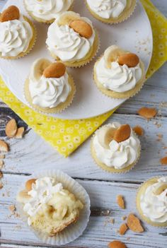 Banana Pudding Cupcakes via The Baker Chick