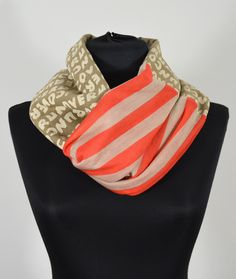 Infinity striped  book scarf from scarfmoment by DaWanda.com