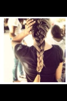 Beautiful tie and dye braid...