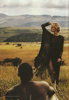 #model #photoshoot #mesh #sheer #designer #fashion #scenery