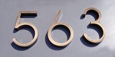 Looking for sleek new door numbers. westonletters.com could be good source.