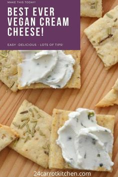 Healthy Meals For One, Healthy Eating Recipes, Real Food Recipes, Dairy Free Recipes, Vegan Recipes, Gluten Free, Easy Recipes, Cashew Cream, Sour Cream