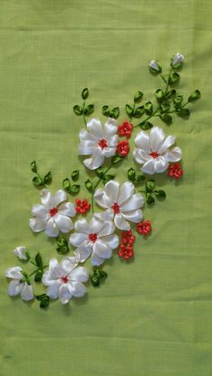 Ribbon Embroidery Design Ribbon embroidery