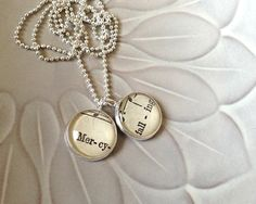 Petite Vintage Sheet Music Necklace by ChirpHandmade on Etsy