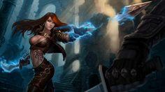 Katarina Blade Throwing Dagger Sexy Girl 1920x1080