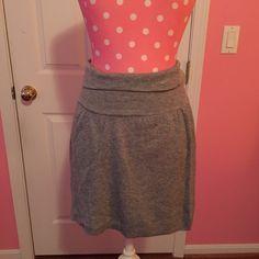 NWT BCBGeneration knit fold-over waist skirt NWT!!! BCBGeneration knit grey fold over waist skirt! Size S BCBGeneration Skirts Mini
