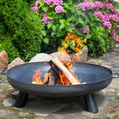 Our large Fire Bowls & Fire Pits create a romantic atmosphere, perfect for summer evening on the patio heater with Free Delivery available at The Farthing. Fire Pit Ring, Fire Pit Bowl, Fire Bowls, Iron Fire Pit, Metal Fire Pit, Outdoor Fire, Outdoor Living, Fire Pit Cooking, Fire Pit Materials