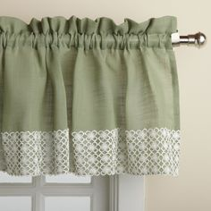 Features: -Please note: Valances are often pictured in multiple quantities. Please measure your window to determine how many items you need to order. Product Type: -Curtain valance. Material: -Poly