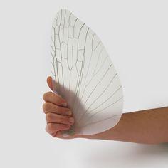 Insect Wing Fan  by Atypyk Ongewoon en heel romantisch doordat het zo natuurlijk is en je gelijk denkt aan vlinders, libelles en een zwoele zomeravond.