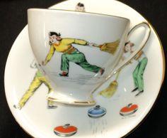 Royal Standard Ladies Curling Curling Game, Needful Things, Vintage China, Tea Cup Saucer, High Tea, Teacups, Afternoon Tea, Bone China, Tea Time