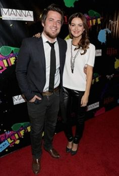 Lee DeWyze attends the 2014 iiJin's Spring and Summer Fashion Show with his wife and iiJin model,Jonna Walsh.  The show held in LA on ...