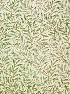 William Morris, 1887, Willow Bough wallpaper design #pattern #seamless