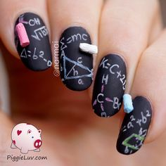 Coming to you live, with the next crazy 3D idea: a chalkboard! This was actually suggested to me by my friend @liza317 when she saw my cork board nail art. Her idea immediately formed an image in my head so I knew exactly how to make this. Come check it out!