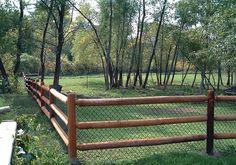 Lowes 3 Rail Wooden Fence | Wood Fence | Premier Fence KC