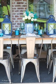 Fresh coastal table décor ideas for the perfect summer night. Grab these tips on setting the perfect coastal tablescape by A Blissful Nest and @Pier. http://ablissfulnest.com/ #coastal #tabledecor #tabledecorideas #coastalinteriors #coastalroom #ocean #blueandwhite #Pier1Love #TablescapeTuesday