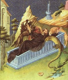 St. Anthony Attacked by Devils - Limbourg brothers - - International Gothic, 1408